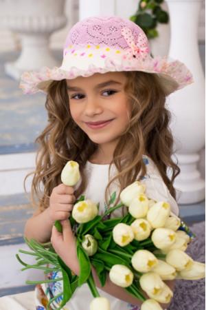 Детская шляпа «Сьюзи» розового цвета