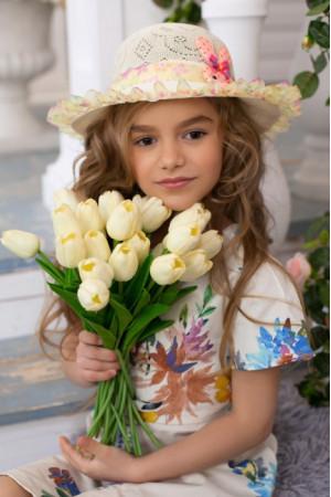 Детская шляпа «Сьюзи» бежевого цвета