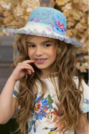 Детская шляпа «Сьюзи» голубого цвета