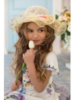 Детская шляпа «Софи» бежевого цвета