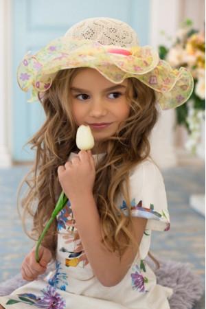 Дитячий капелюх «Софі» бежевого кольору
