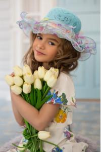 Детская шляпа «Софи» голубого цвета