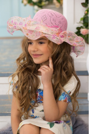 Детская шляпа «Софи» розового цвета