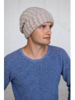 Мужская шапка «Ален» цвета светлый кофе
