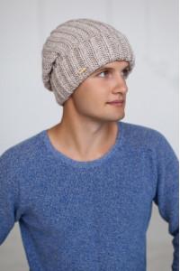 Чоловіча шапка «Ален» кольору світлої кави
