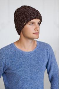 Чоловіча шапка «Кевін» світло-коричневого кольору
