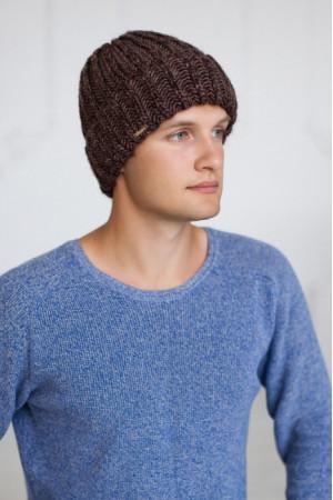 Мужская шапка «Кевин» светло-коричневого цвета