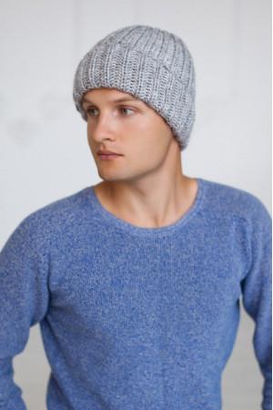 Мужская шапка «Кевин» светло-серого цвета