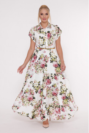Сукня «Альона» з принтом-букет