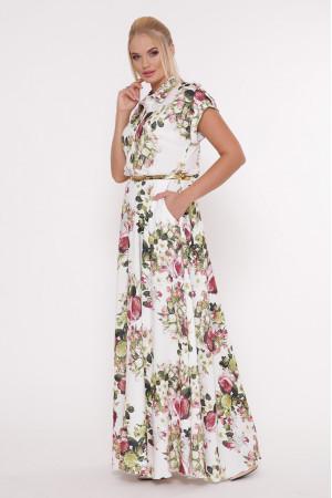 Платье «Алена» с розовым принтом