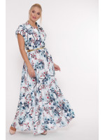Сукня «Альона» з блакитним принтом