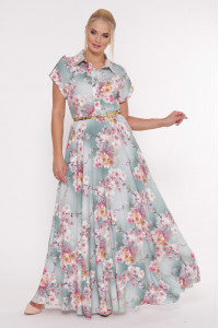 Платье «Алена» серого цвета