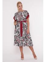 Платье «Ирина» с бордовым принтом