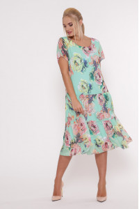 Платье «Катаисс» мятного цвета