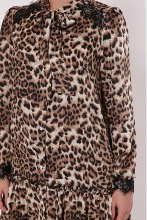 Платье «Лея» с леопардовым принтом