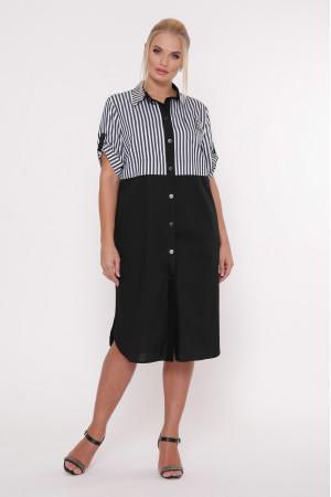 Платье-рубашка «Лана» черного цвета