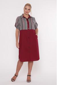 Платье «Лана» бордового цвета