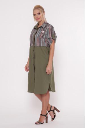 Платье «Лана» оливкового цвета