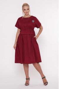Сукня «Мелісса» бордового кольору