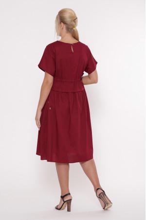 Платье «Мелисса» бордового цвета