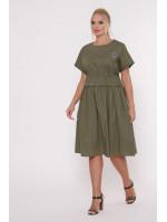 Платье «Мелисса» оливкового цвета