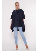 Блуза «Уля» темно-синего цвета