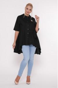 Блуза «Уля» черного цвета