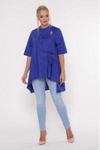 Блуза «Уля» яскраво-синього кольору