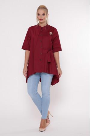 Блуза «Уля» бордового цвета