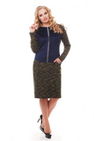 Платье «Кэти» оливкового цвета