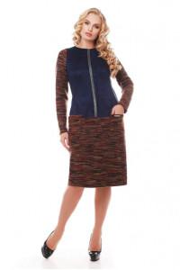 Платье «Кэти» коричневого цвета