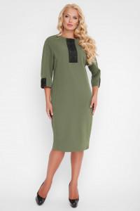 Платье «Аманда» оливкового цвета