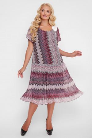 Платье «Катаисс» с красным принтом