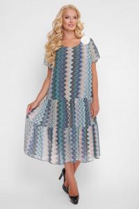 Сукня «Катаїсс» з блакитним принтом