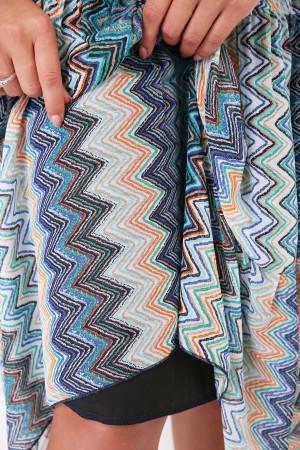 Платье «Катаисс» с голубым принтом