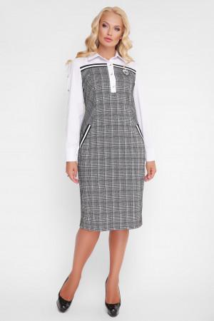 Платье «Хатия» серого цвета