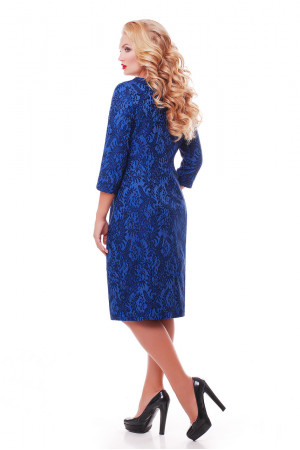 Платье «Катрин» сапфирового цвета