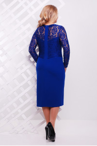 Платье «Адель» цвета электрик