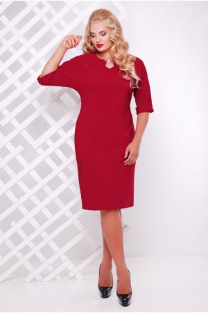 Платье «Оливия» бордового цвета