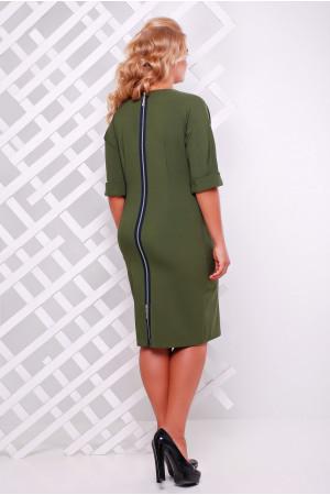 Платье «Оливия» оливкового цвета