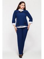 Брючний костюм «Дует» синього кольору