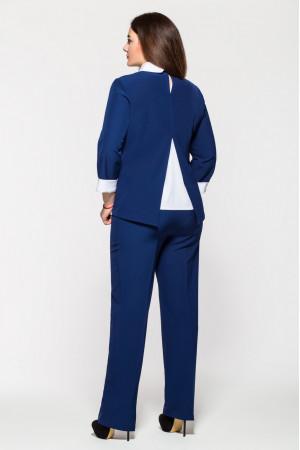 Брючный костюм «Дуэт» синего цвета