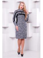 Платье «Клеопатра» цвета серый меланж