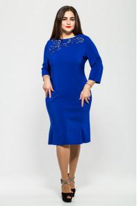 Платье «Анюта» цвета электрик