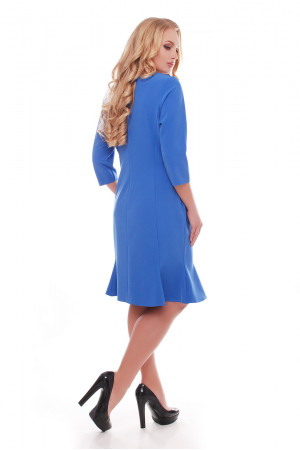 Платье «Анюта» василькового цвета