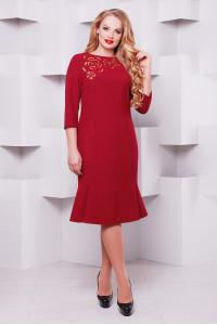 Платье «Анюта» бордового цвета