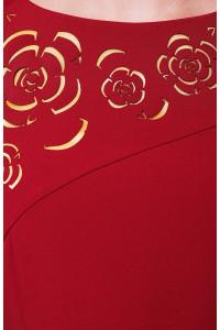 Сукня «Анюта» бордового кольору