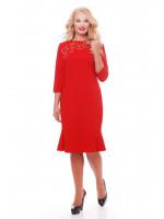 Платье «Анюта» красного цвета