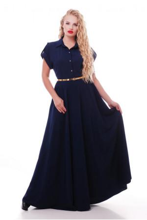 Платье «Алена» темно-синего цвета