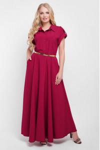 Платье «Алена» бордового цвета